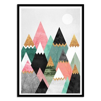 Wall Editions - Affiche Pretty mountains - multicolore