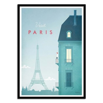 Wall Editions - Visit Paris - Affiche - bleu