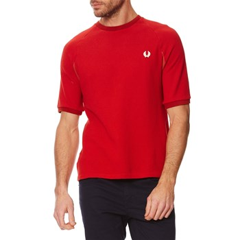 T-shirt effet maille - rouge