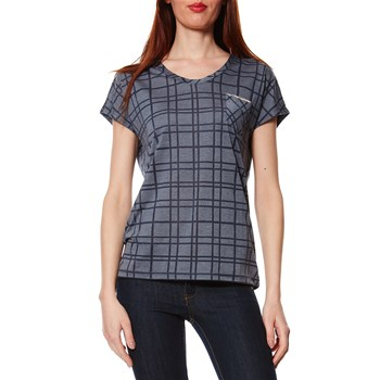 Dress Tartan - Alasdiar Burnout - T-shirt - bleu