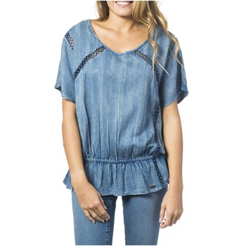 Top - denim bleu