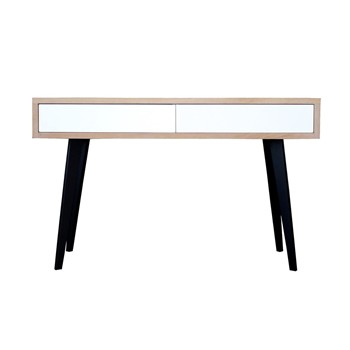 Console 2 tiroirs style scandinave - bicolore