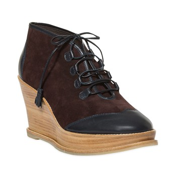Bottines en cuir - bleu