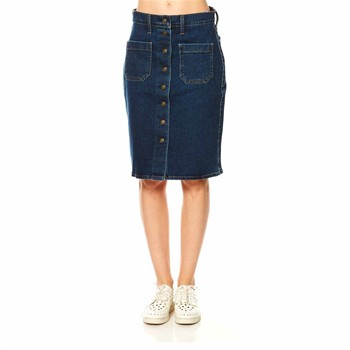 Front Detailed Skirt - Jupe - denim bleu