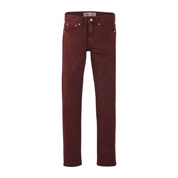 510 - Jean slim - bordeaux