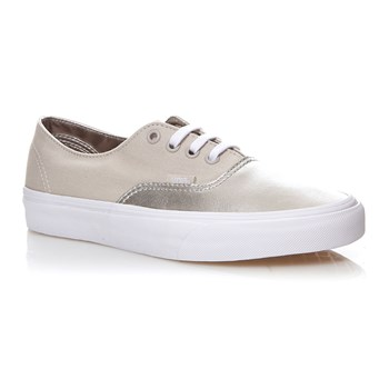 UA AUTHENTIC DECON - Baskets en cuir mélangé - argent