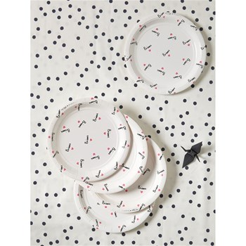 Lot de 8 assiettes - blanc