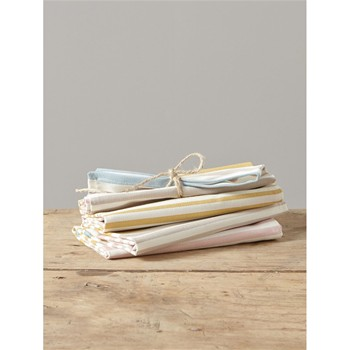 Lot de 4 serviettes de table - multicolore