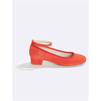 Ballerines en cuir - orange