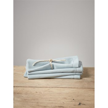 Lot de 4 serviettes de table - bleu