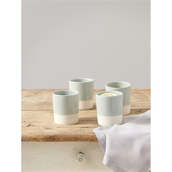 Lot de 4 mugs en céramique - bicolore