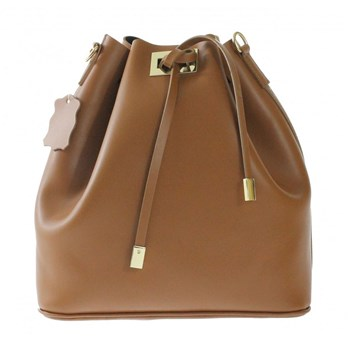 Barbara - Sac bourse en cuir - marron