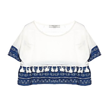 Taponi - Crop Top - blanc