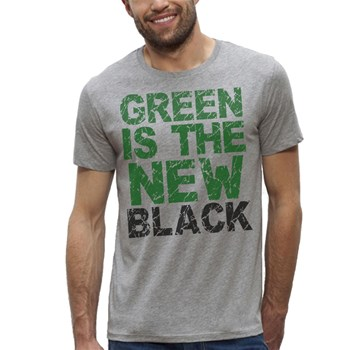 Green is black - T-shirt manches courtes - gris chine