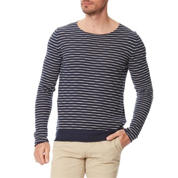 Replay - Pull Rayé - Pullover - blau