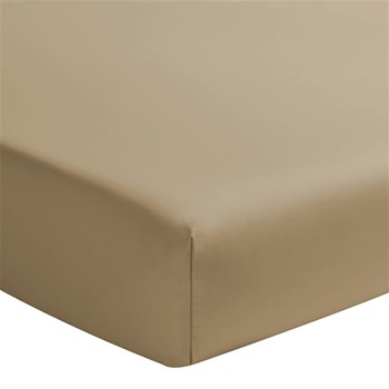 Teo - Drap housse en satin - bronze