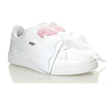 Heart - Baskets en cuir - blanc