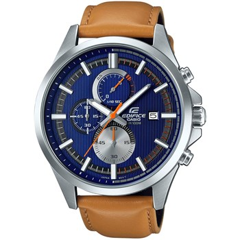 Edifice - Montre en cuir - orange
