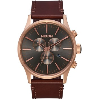 Sentry Chrono - Montre en cuir - marron