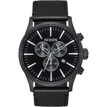 Sentry Chrono - Montre en cuir - noir