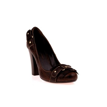 Escarpins en cuir - marron