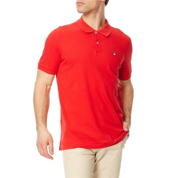 Benetton - Polo manches courtes - rouge