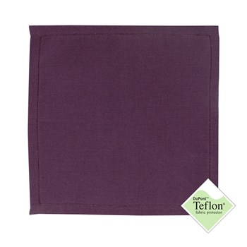 Florence - Serviette de table en lin - violet