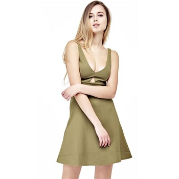 Guess - Robe ouverture frontale - vert