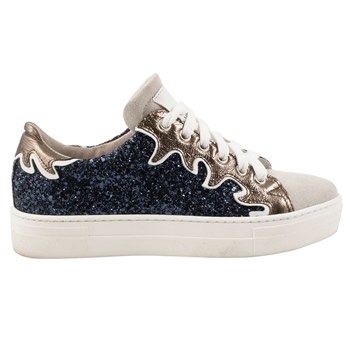Miley - Baskets en cuir - bleu