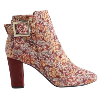 Lio - Bottines en velours - multicolore