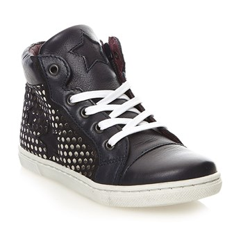 Sneakers alte in pelle - stampato