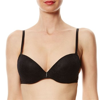 Sujetador push up - negro