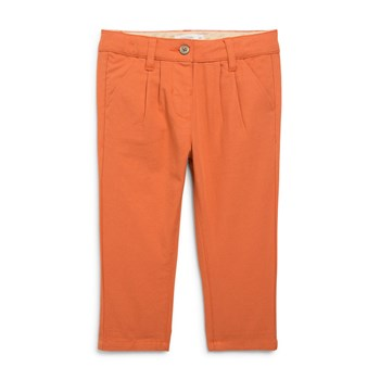 Pantalon à carreaux - orange