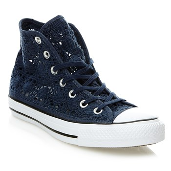 CHUCK TAYLOR ALL STAR HI NAVY/WHITE/BLACK - Baskets montantes en crochet - bleu marine