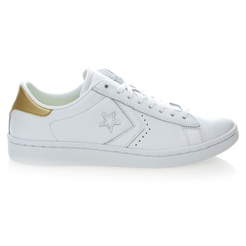 PL LP OX WHITE/LIGHT GOLD/WHITE - Baskets en cuir - blanc