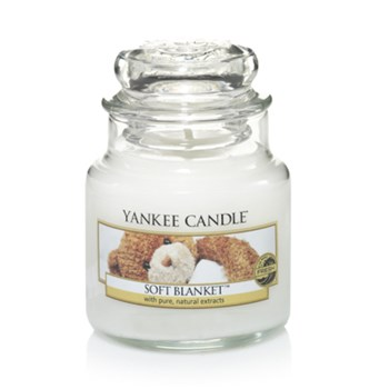 Yankee Candle - Couverture Douce - Geurkaars, Small jar - wit