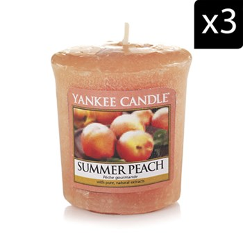 Yankee Candle - Pêche Gourmande - 3 Duftkerzen - orange