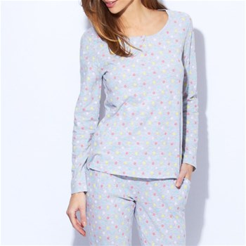 Smiley - Camiseta de pijama - estampado