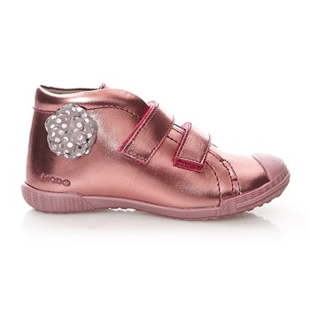 Bottillons en cuir - rose