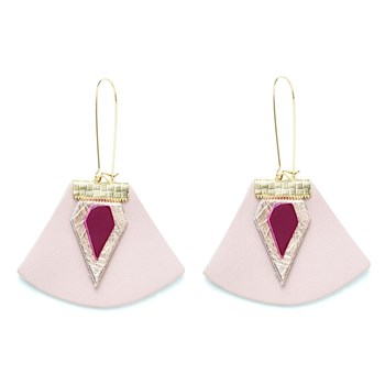 Charly James - Boucles d'oreilles en cuir - beige