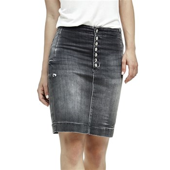 Jupe en denim - gris
