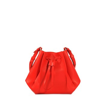 Bucket - Sac en cuir - rouge