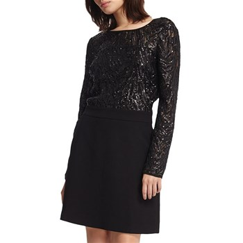 Robe top sequins - noir