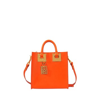 Square Albion - Sac cabas en cuir - orange