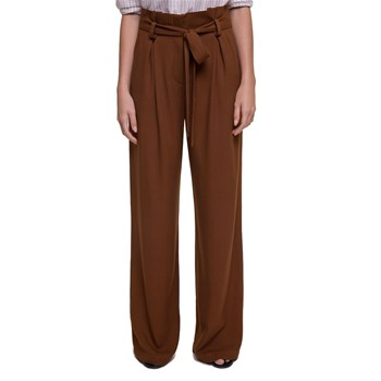 Pantalon large - caramel