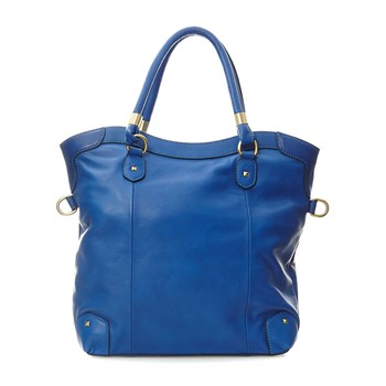 Iola - Shopping Bag aus Leder - blau