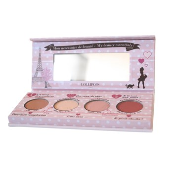 Lollipops Make up - Paris Sera Toujours Paris - Palette visage teint + yeux 4 godets - multicolore