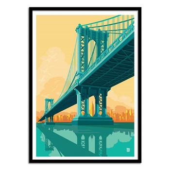 Wall Editions - Manhattan Bridge - Affiche art 50x70 cm