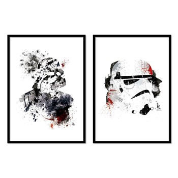 Wall Editions - Lot de 2 affiches - blanc