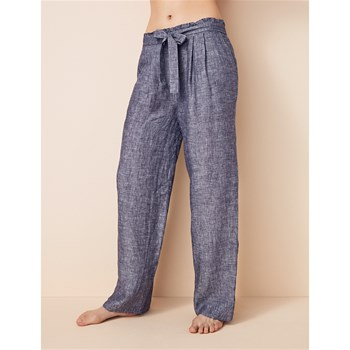 PLAY - Pantalon en lin - bleu
